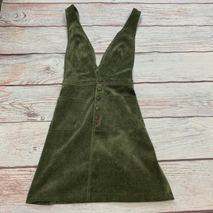 Primary Photo - BRAND: LOVERICHE STYLE: DRESS SHORT SLEEVELESS COLOR: OLIVE SIZE: S OTHER INFO: OVERALLS DRESS-CORDUROY-THREAD WRAPPED BUTTONS SKU: 178-178102-62670