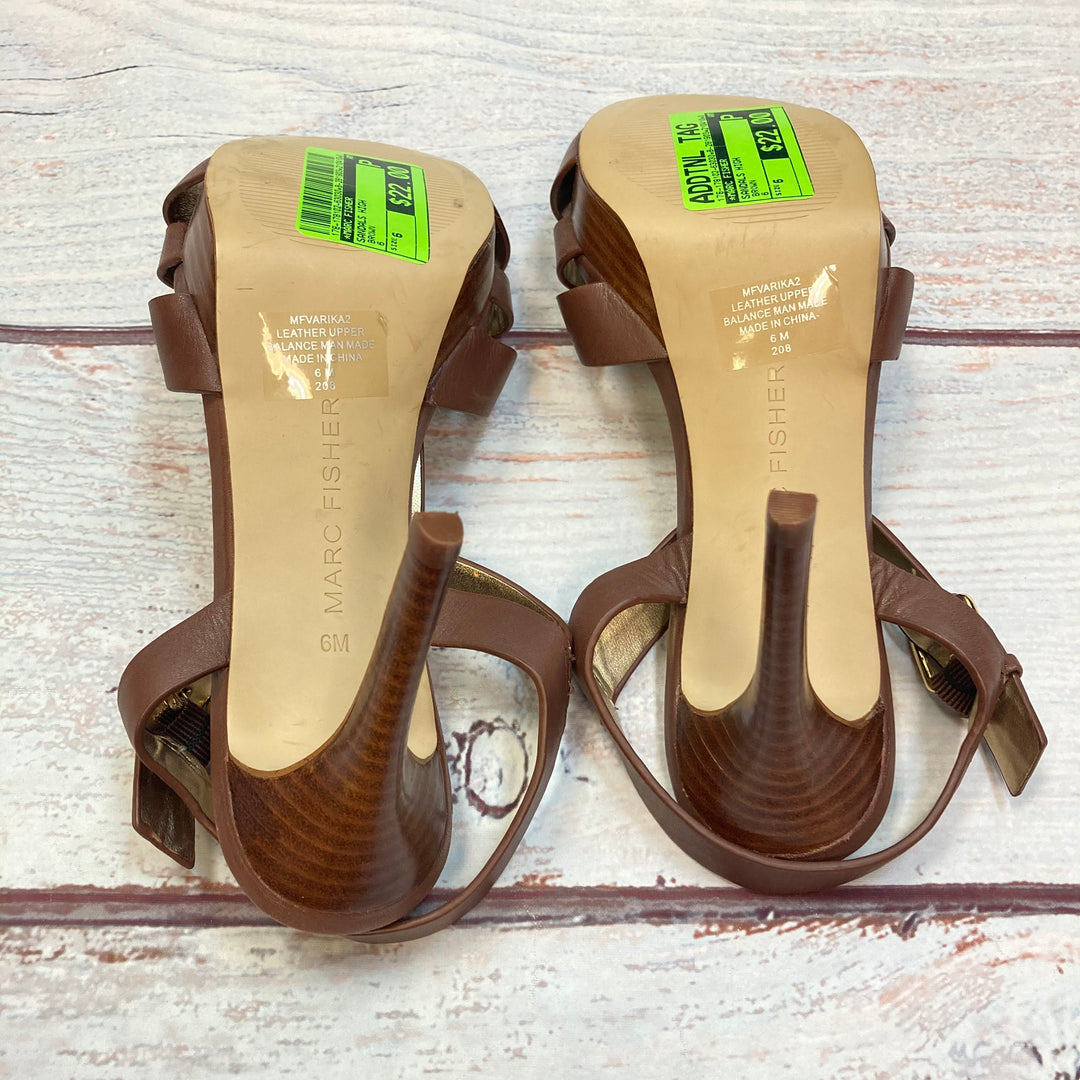 Photo #3 - BRAND: MARC FISHER <BR>STYLE: SANDALS HIGH <BR>COLOR: BROWN <BR>SIZE: 6 <BR>SKU: 178-178102-63030