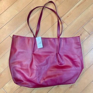 Primary Photo - BRAND: SAKS FIFTH AVENUE STYLE: TOTE COLOR: BURGUNDY SIZE: LARGE OTHER INFO: NEW! SKU: 178-178168-8811