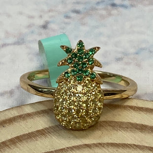Primary Photo - STYLE: RING COLOR: STERLING SILVER OTHER INFO: GOLD PINEAPPLE SKU: 178-178212-3301