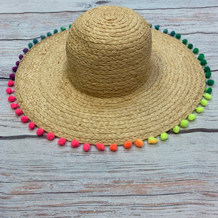 Primary Photo - BRAND: MARCUS ADLER STYLE: HAT COLOR: STRAW OTHER INFO:  RAINBOW POM POMS SKU: 178-178199-3076