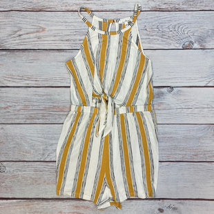 Primary Photo - BRAND: LOVE TREE STYLE: DRESS SHORT SLEEVELESS COLOR: STRIPED SIZE: L OTHER INFO: WHITE/YELLOW/BLACK-ROMPER! SKU: 178-178102-62731