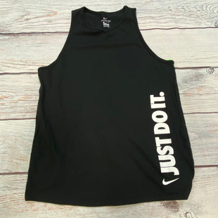 Primary Photo - BRAND: NIKE STYLE: ATHLETIC TANK TOP COLOR: BLACK SIZE: M OTHER INFO: JUST DO IT SKU: 178-178212-5668