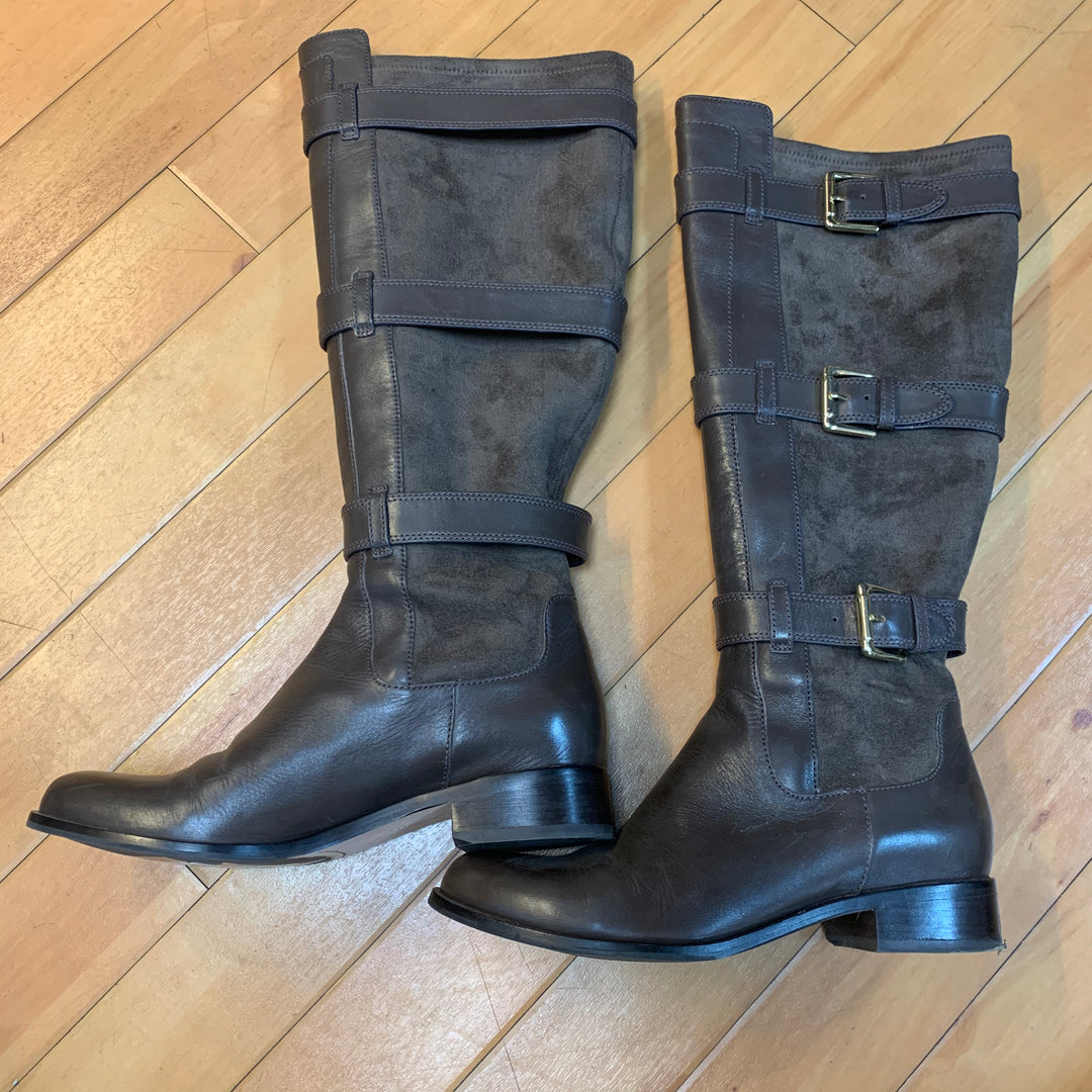 Primary Photo - BRAND: COLE-HAAN <BR>STYLE: BOOTS DESIGNER <BR>COLOR: BROWN <BR>SIZE: 8 <BR>OTHER INFO: NEW IN BOX/ GOLD BUCKLES <BR>SKU: 178-178214-813