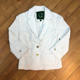 Primary Photo - BRAND: C WONDER STYLE: BLAZER JACKET COLOR: WHITE SIZE: XS OTHER INFO: EYELET W/ GOLD BUTTONS SKU: 178-178102-61541