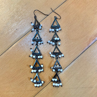 Primary Photo - STYLE: EARRINGS  COLOR: BLACK WHITE OTHER INFO: LONG- TRIANGLES SKU: 178-17883-12883