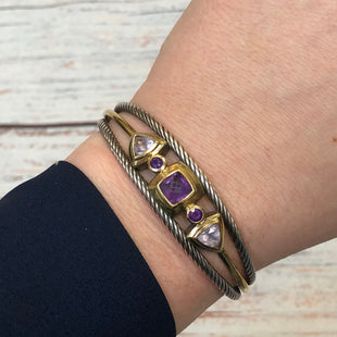 Primary Photo - BRAND: DAVID YURMAN STYLE: BRACELET COLOR: STERLING SILVER OTHER INFO: AMETHYST 925/18K TWISTED CABLE CUFF SKU: 178-178102-61423