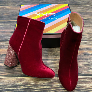 Primary Photo - BRAND: XYDSTYLE: BOOTS ANKLE COLOR: MAROON SIZE: 8 OTHER INFO: XYD - NEW! PINK SPARKLY HEELS SKU: 178-178212-190