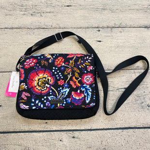 Primary Photo - BRAND: VERA BRADLEY STYLE: HANDBAG COLOR: BLACK SIZE: MEDIUM OTHER INFO: PINK/ORANGE/WHITE FLOWERS CONVERTIBLE XBODY SKU: 178-178203-2471