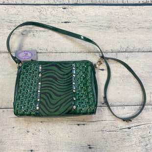 Primary Photo - BRAND: SHARIF STYLE: HANDBAG LEATHER COLOR: GREEN SIZE: SMALL OTHER INFO: NEW! ZEBRA/WOVEN/PATENT SKU: 178-178102-59760
