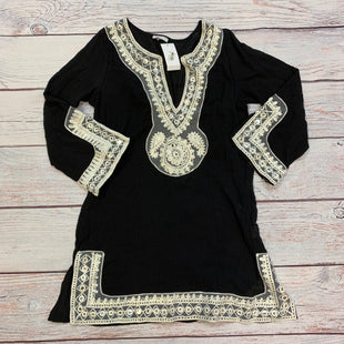 Primary Photo - BRAND: NORDSTROM STYLE: COVERUP COLOR: BLACK SIZE: M OTHER INFO: NEW! WHITE EMBROID-MIRRORS SKU: 178-178168-9648