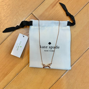 Primary Photo - BRAND: KATE SPADE STYLE: NECKLACE COLOR: GOLD SILVER OTHER INFO: NEW! BOW SKU: 178-178199-3091