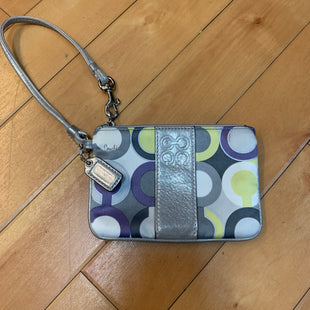 Primary Photo - BRAND: COACH STYLE: WRISTLET COLOR: MULTI OTHER INFO: SLIGHT STAINING- WHITE/PURPLE/SILVER/YELLOW SKU: 178-17883-13603