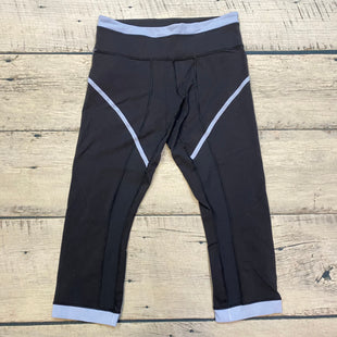 Primary Photo - BRAND: LULULEMON STYLE: ATHLETIC CAPRIS COLOR: BLACK SIZE: M OTHER INFO: SIZE 8-LAVENDER TRIMS-SLIGHT PILLS SKU: 178-178102-57376