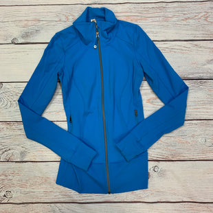 Primary Photo - BRAND: LULULEMON STYLE: ATHLETIC JACKET COLOR: BLUE SIZE: XS OTHER INFO: SIZE 2 SKU: 178-178102-64001