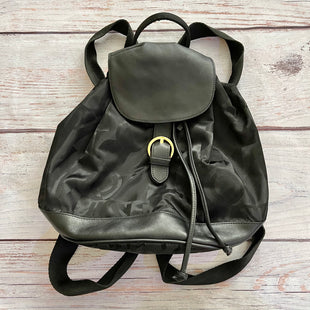 Primary Photo - BRAND: SALVATORE FERRAGAMO STYLE: BACKPACK COLOR: BLACK SIZE: MEDIUM OTHER INFO: GANCHINI LUC NYLON/LTHR BACKPACK SKU: 178-178102-58030