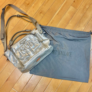 Primary Photo - BRAND: MZ WALLACE STYLE: HANDBAG DESIGNER COLOR: SILVER SIZE: LARGE OTHER INFO: XBODY-SHINY W/ TAUPE TRIMS SKU: 178-178102-54556