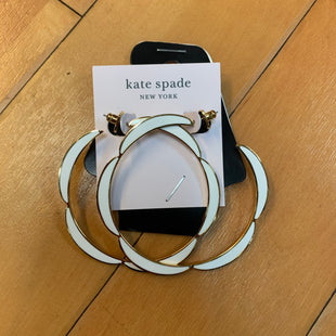 Primary Photo - BRAND: KATE SPADE STYLE: EARRINGS COLOR: GOLD OTHER INFO: WHITE NEW! SKU: 178-178212-354