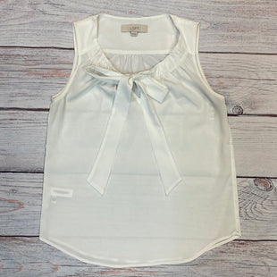 Primary Photo - BRAND: ANN TAYLOR LOFT O STYLE: TOP SLEEVELESS COLOR: WHITE SIZE: XS OTHER INFO: NECK TIE SKU: 178-178208-116