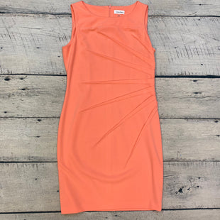 Primary Photo - BRAND: CALVIN KLEIN STYLE: DRESS SHORT SLEEVELESS COLOR: PEACH SIZE: L OTHER INFO: SZ 12 SKU: 178-178212-3903