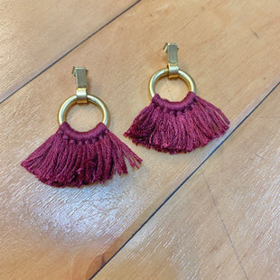 Primary Photo - STYLE: EARRINGS COLOR: RED OTHER INFO: CIRCLE WITH TASSELS SKU: 178-178187-1094