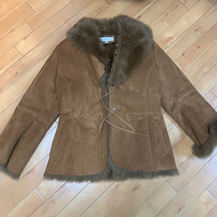 Primary Photo - BRAND: JONES NEW YORK STYLE: COAT SHORT COLOR: BROWN SIZE: L SKU: 178-17883-14923