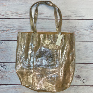 Primary Photo - BRAND: ANTHROPOLOGIE STYLE: HANDBAG LEATHER COLOR: GOLD SIZE: LARGE OTHER INFO: NEW! $120-W/ POUCH SKU: 178-178102-61513