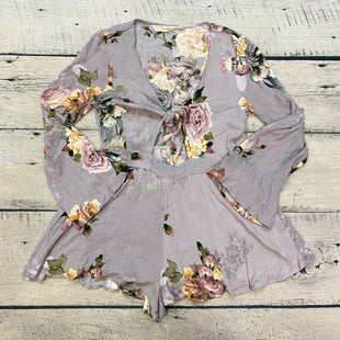 Primary Photo - BRAND:    ILLA STYLE: ROMPER SHORT LONG SLEEVE COLOR: LAVENDER SIZE: L OTHER INFO: ILLA - FLOWERED ROMPER GREEN/YELLOW/PINK SKU: 178-178212-4306