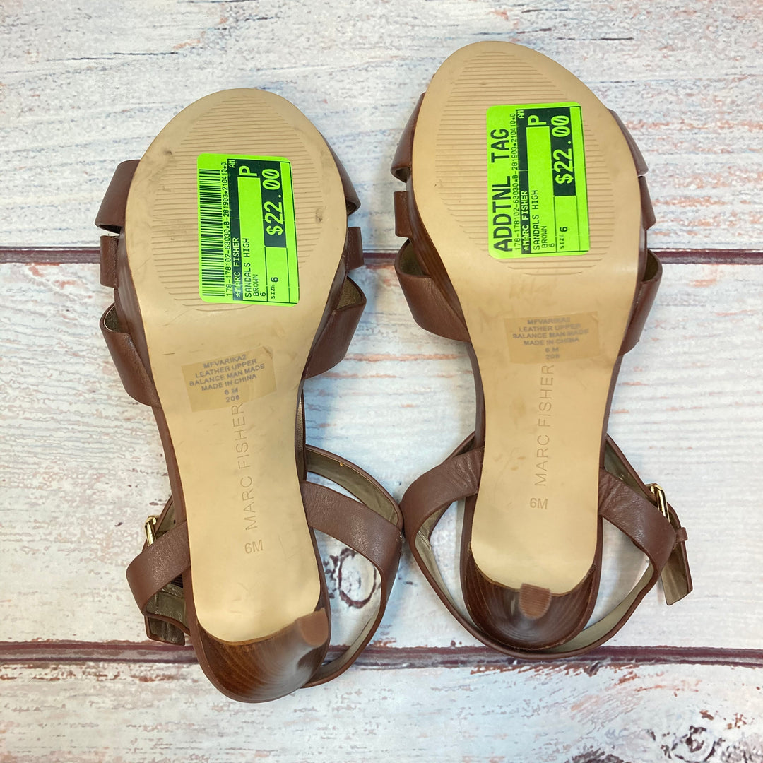 Photo #2 - BRAND: MARC FISHER <BR>STYLE: SANDALS HIGH <BR>COLOR: BROWN <BR>SIZE: 6 <BR>SKU: 178-178102-63030