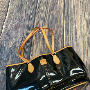 Primary Photo - BRAND: DOONEY AND BOURKE STYLE: HANDBAG DESIGNER COLOR: BLACK SIZE: LARGE OTHER INFO: PATENT LEATHER SKU: 178-178182-3382