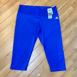 Primary Photo - BRAND: ADIDAS STYLE: ATHLETIC CAPRIS COLOR: ROYAL BLUE SIZE: XL OTHER INFO: NEW! SKU: 178-178182-2009