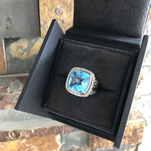 Primary Photo - BRAND: DAVID YURMAN STYLE: RING COLOR: STERLING SILVER SIZE: 7 OTHER INFO: ALBION BLUE TOPAZ 15MM SKU: 178-17824-10565