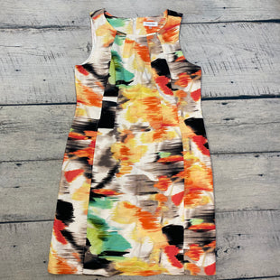 Primary Photo - BRAND: CALVIN KLEIN STYLE: DRESS SHORT SLEEVELESS COLOR: PRINT SIZE: M OTHER INFO: SIZE 10-ORANGE/CREAM/GREEN/YELLOW/BLACK/TAN SKU: 178-178102-62683