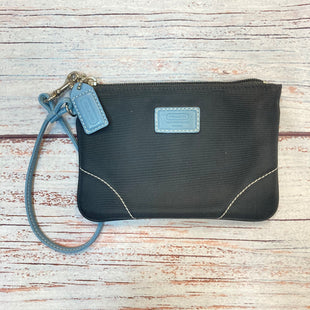 Primary Photo - BRAND: COACH STYLE: WRISTLET COLOR: BLACK OTHER INFO: BLUE TRIMS SKU: 178-178102-62189