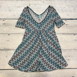 Primary Photo - BRAND: FREE PEOPLE STYLE: DRESS SHORT SHORT SLEEVE COLOR: PRINT SIZE: M OTHER INFO: GREY/BLUE/CHAROCAL SKU: 178-178102-61853