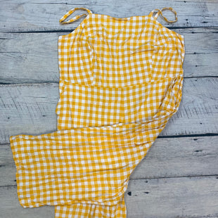 Primary Photo - BRAND: OLD NAVY STYLE: DRESS LONG SLEEVELESS COLOR: GINGHAM SIZE: 4X OTHER INFO: YELLOW/WHITE-JUMPER! SKU: 178-178102-58384