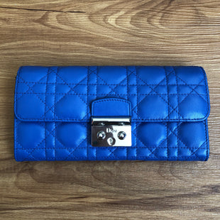 Primary Photo - BRAND: CHRISTIAN DIORSTYLE: WALLETCOLOR: BLUESIZE: LARGEOTHER INFO: LAMBSKIN CANNAGE MISS DIOR PROMENADE WALLETSKU: 178-178168-7453R