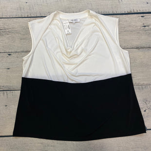Primary Photo - BRAND: JONES STUDIO STYLE: TOP SLEEVELESS COLOR: WHITE BLACK SIZE: 2X OTHER INFO: NEW! SKU: 178-178212-2619
