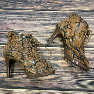 Primary Photo - BRAND:    HIGH HEEL POWER STYLE: SANDALS HIGH COLOR: SNAKESKIN PRINT SIZE: 9 OTHER INFO: HIGH HEEL POWER - BROWN/BLACK SKU: 178-17824-10311