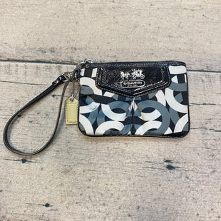 Primary Photo - BRAND: COACH STYLE: WRISTLET COLOR: MONOGRAM OTHER INFO: BLACK/WHITE/GREY SKU: 178-178203-3899