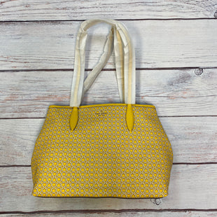 Primary Photo - BRAND: KATE SPADE STYLE: HANDBAG DESIGNER COLOR: YELLOW SIZE: LARGE OTHER INFO: NEW! SPADE INTERLOCKING PRINT SKU: 178-178102-58900