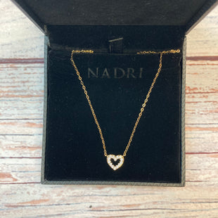 Primary Photo - BRAND:    NADRISTYLE: NECKLACE COLOR: GOLD OTHER INFO: NADRI - HEART CRYSTAL SKU: 178-178102-59058