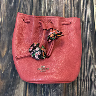 Primary Photo - BRAND: COACH STYLE: WRISTLET COLOR: PINK OTHER INFO: BUCKET BAG W/ FLOWERS SKU: 178-17883-15034