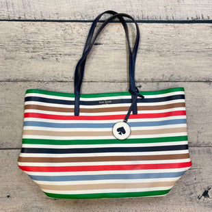 Primary Photo - BRAND: KATE SPADE STYLE: HANDBAG DESIGNER COLOR: STRIPED SIZE: LARGE OTHER INFO: LEATHER TOTE-WHITE/BLUE/RED/GREEN/BLACK/BROWN SKU: 178-178102-62963