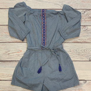 Primary Photo - BRAND: ANN TAYLOR LOFT STYLE: DRESS SHORT LONG SLEEVE COLOR: DENIM SIZE: S OTHER INFO: ROMPER SKU: 178-178160-6211