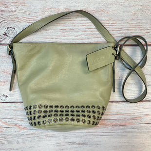 Primary Photo - BRAND: COACH STYLE: HANDBAG DESIGNER COLOR: OLIVE SIZE: MEDIUM OTHER INFO: BUCKET XBODY W/ SILVER RIVETS SKU: 178-178102-59044