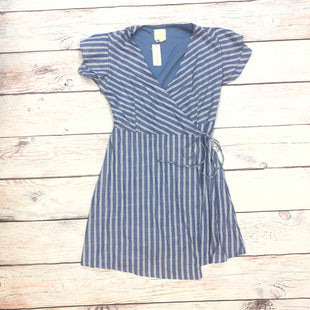 Primary Photo - BRAND: HARPER STYLE: DRESS SHORT SHORT SLEEVE COLOR: STRIPED SIZE: L OTHER INFO: BLUE/WHITE-NEW! SKU: 178-178102-62786