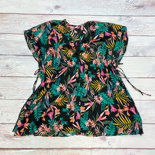 Primary Photo - BRAND: OLD NAVY STYLE: COVERUP COLOR: FLORAL SIZE: 1X OTHER INFO: BLACK/PINK/ORANGE/YELLOW/GREEN SKU: 178-178212-3243