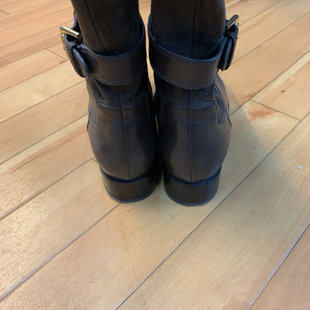 Photo #1 - BRAND: COLE-HAAN <BR>STYLE: BOOTS DESIGNER <BR>COLOR: BROWN <BR>SIZE: 8 <BR>OTHER INFO: NEW IN BOX/ GOLD BUCKLES <BR>SKU: 178-178214-813