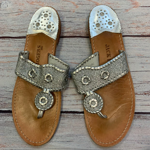 Photo #1 - BRAND: JACK ROGERS STYLE: SANDALS FLAT COLOR: SILVER SIZE: 10 SKU: 178-178199-4831
